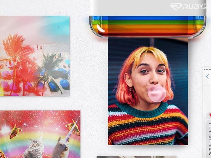 Máy in ảnh bỏ túi Polaroid Hi-Print 2 × 3 In ảnh