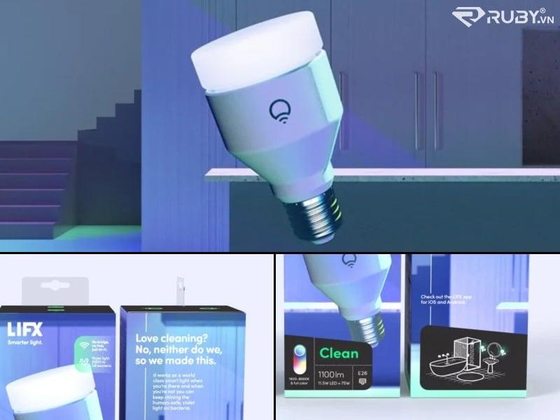 Bóng đèn thông minh kháng khuẩn sách LIFX trong nhà