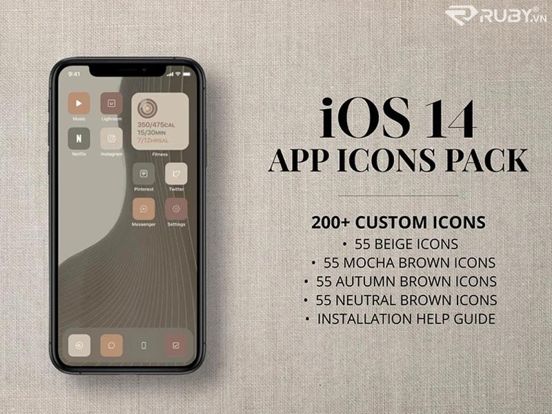 Gói biểu tượng iOS 14 tùy chỉnh của Senses Studio