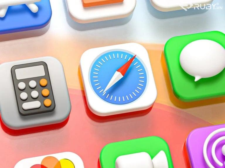 Màu xám trung tính thẩm mĩ ios14 của Iphone