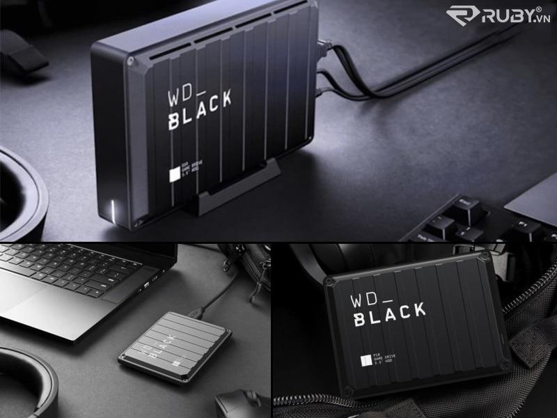 Ổ đĩa trò chơi Western Digital WD_BLACK P10 Ổ cứng ngoài trên không gian làm việc