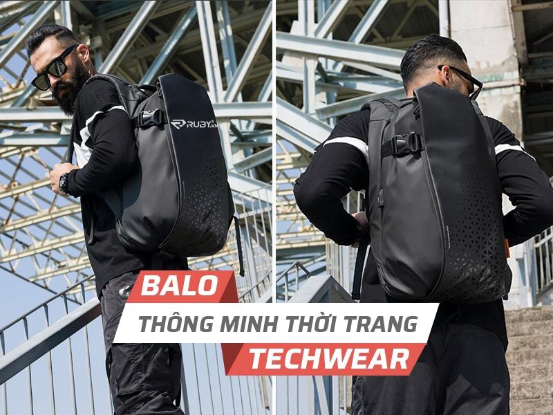 Balo công nghệ thông minh thời trang Techwear