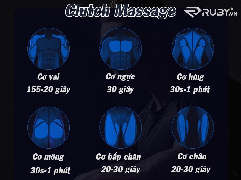 Công nghệ giảm đau tự nhiên trong vòng vài phút của dụng cụ massage clutch