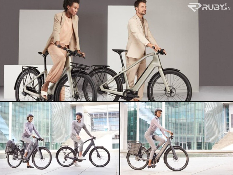 Canyon Precede: ON CF 9 Urban eBikes with Riders
