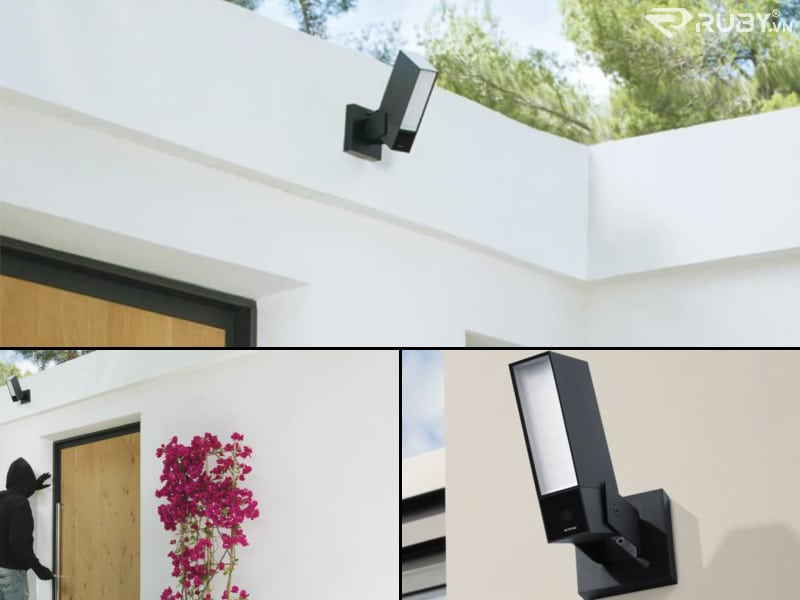 Netatmo Smart Outdoor Camera với Siren Security Cam