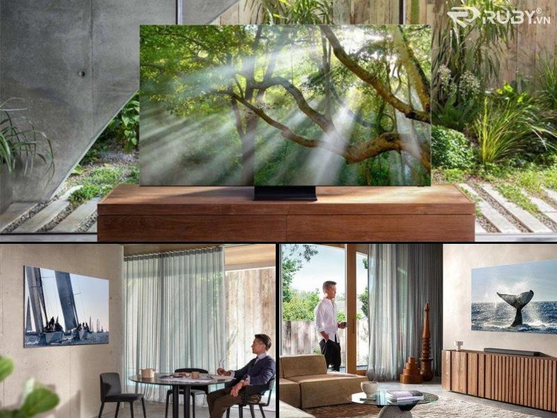 Samsung Q950TS QLED 8K Smart TV trong nhà
