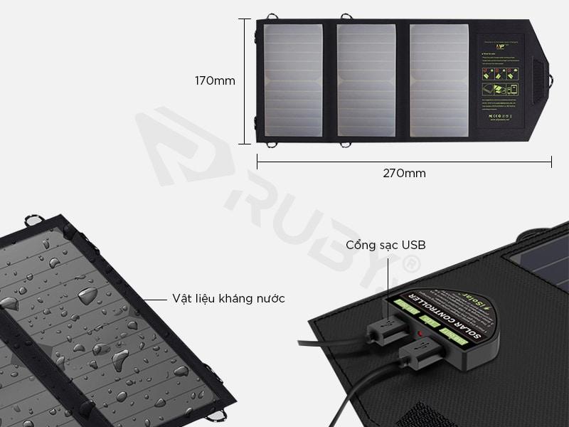 Cấu tạo chi tiết Bộ sạc pin năng lượng mặt trời Xixa