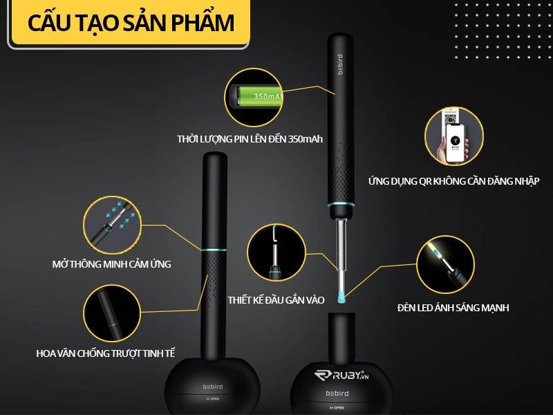 Các thành phần của dụng cụ lấy ráy tai thông minh