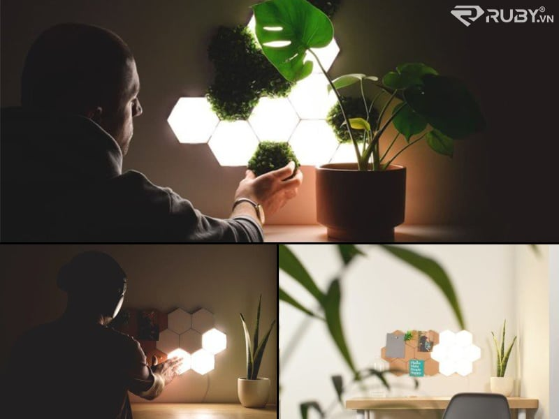 sản phẩm công nghệ tốt nhất Gạch chiếu sáng từ tính POLYGON Light
