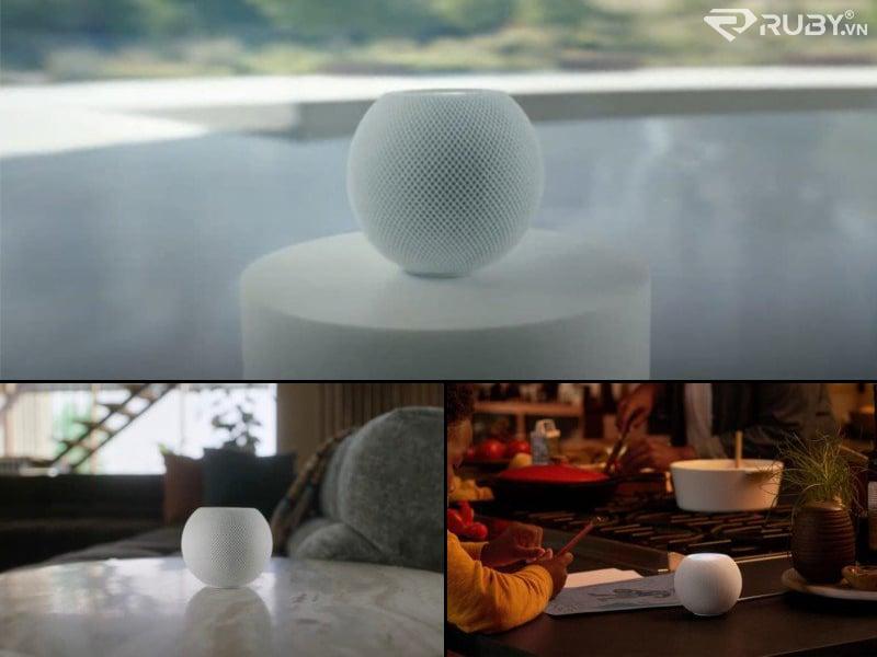 Loa thông minh Apple HomePod mini trên bàn