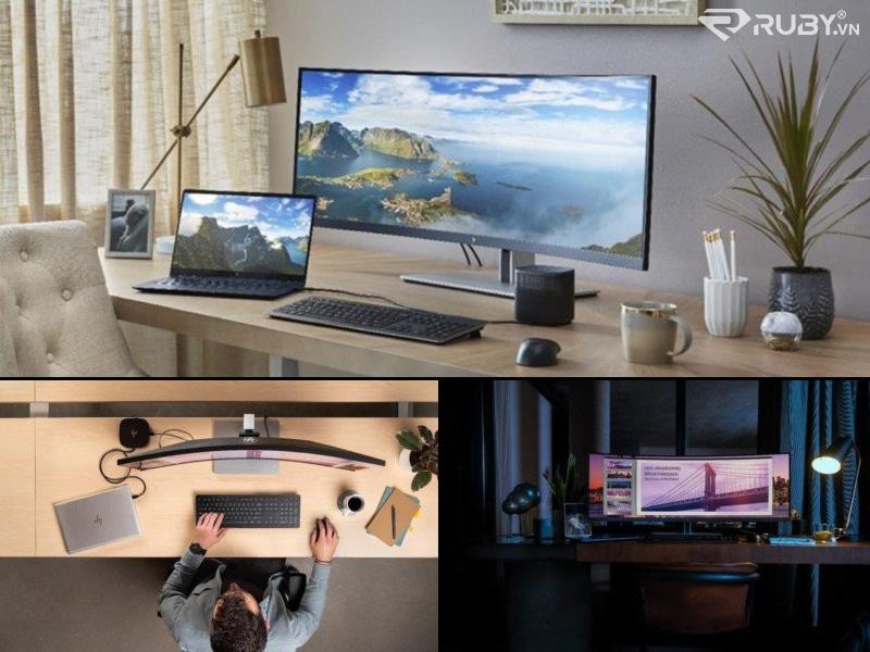 sản phẩm công nghệ màn hình cong siêu rộng HP S430C 43,4 inch