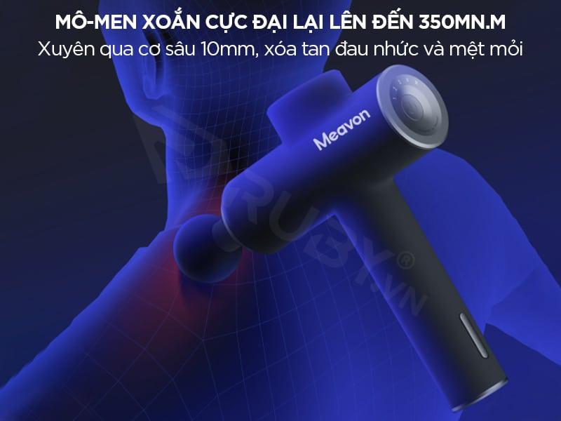 Súng massage Xiaomi có mô-men xoắn cực đại lên đến 350mN.m