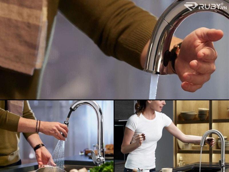 Vòi chậu rửa thông minh Kohler Konnect Sensate