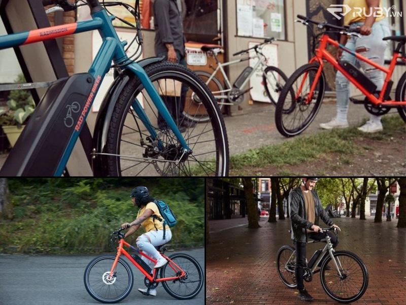 Xe đạp điện RadMission 1 ngoài trời