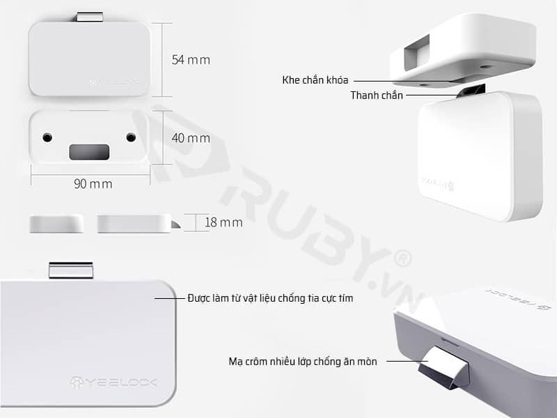 Cấu tạo chi tiết Khóa tủ thông minh Xiaomi Yeelock ZNGS01YSB