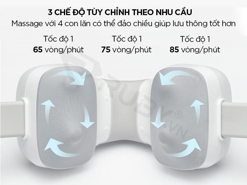 Máy massage cổ Xiaomi có 3 chế độ tùy chỉnh khác nhau