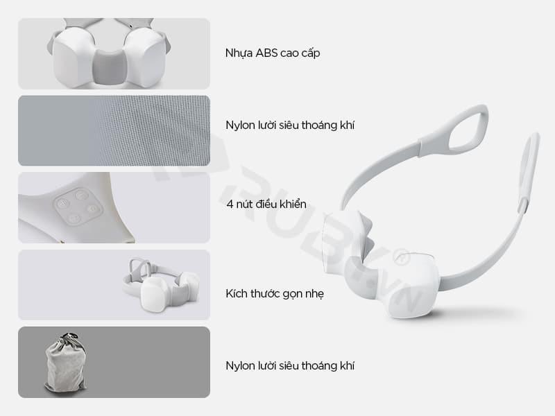 Cấu tạo chi tiết Máy massage cổ vật lý trị liệu Xiaomi Mini M1
