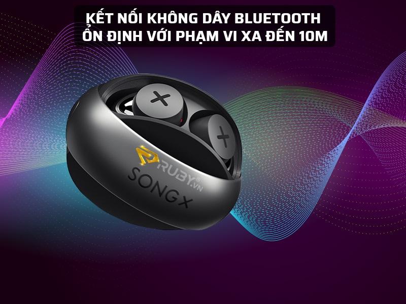 Tai nghe bluetooth Song X có phạm vi kết nối lên đến 10m