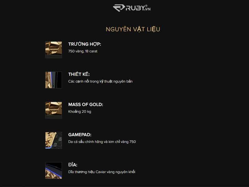Nguyên vật liệu tạo nên máy PS5 Golden