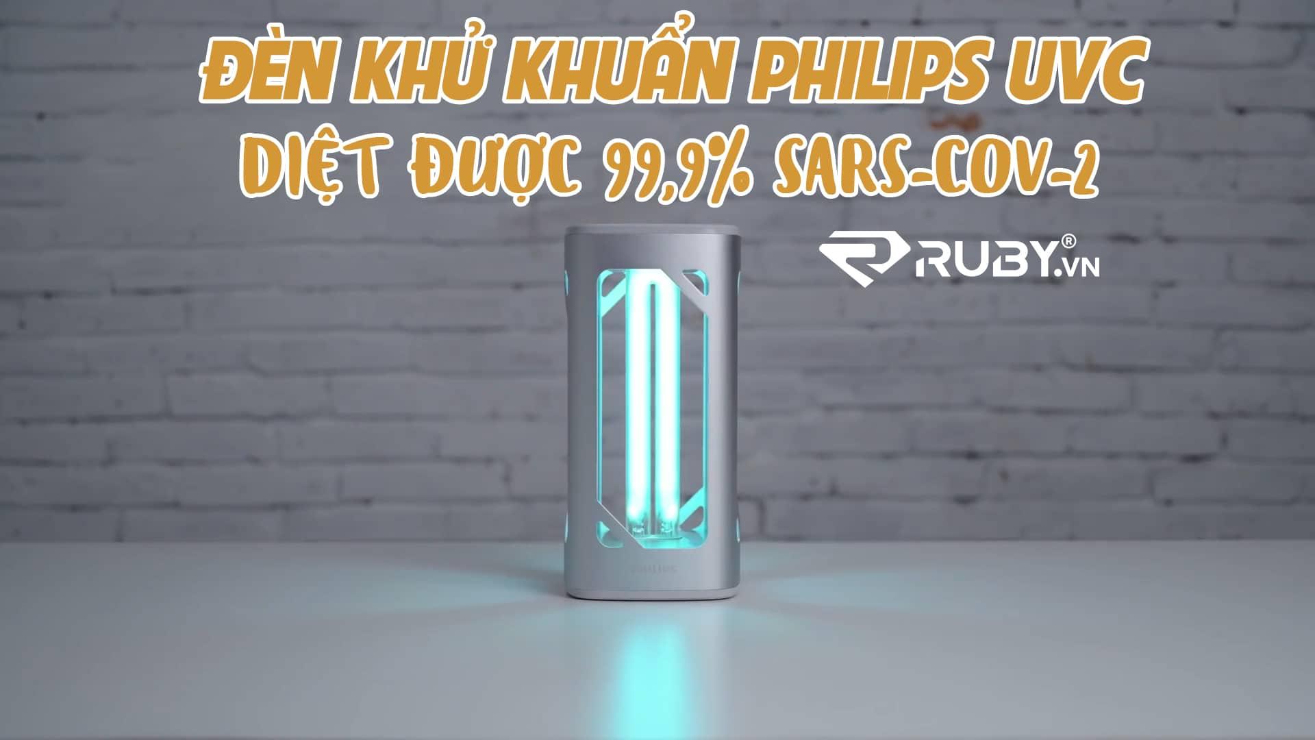 Đèn bàn khử trùng Philips UV-C có thể vô hiệu...