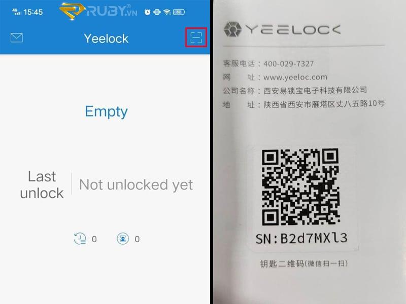 Đăng nhập mã QR Code app YeeLook