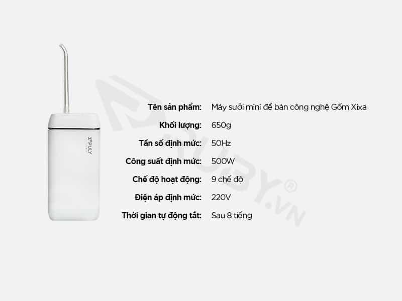 Thông số kỹ thuật Máy tăm nước Xiaomi ENPULY M6