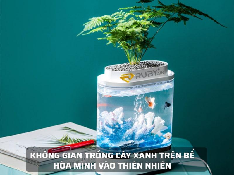 Không gian cây xanh trên bể cá Xiaomi