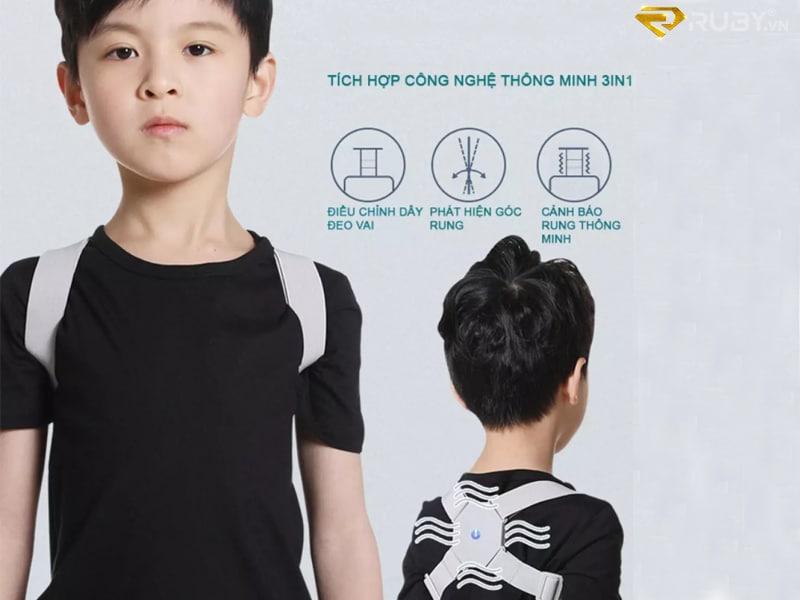 Đai rung chống gù lưng cho trẻ