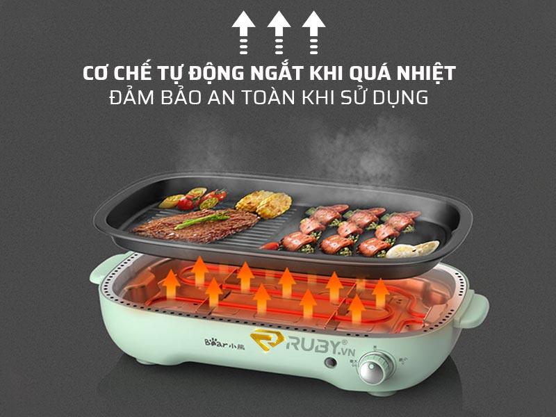 Bếp lẩu nướng có cơ chế ngắt tự động khi quá nhiệt