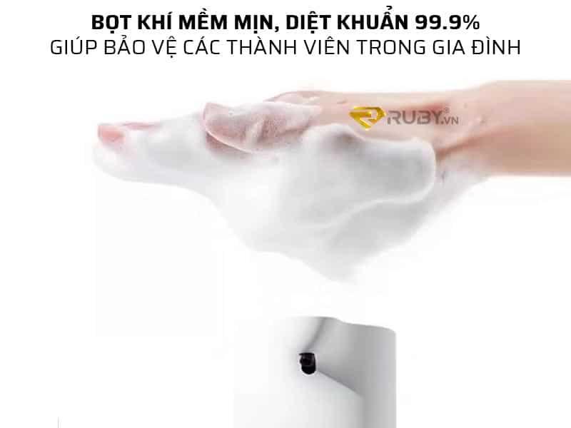 Bọt khí mềm mịn, diệt khuẩn 99.9%
