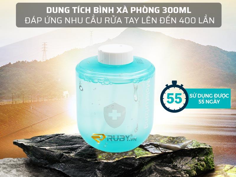 Dung tích 300ml, có thể sử dụng rửa tay 55 ngày