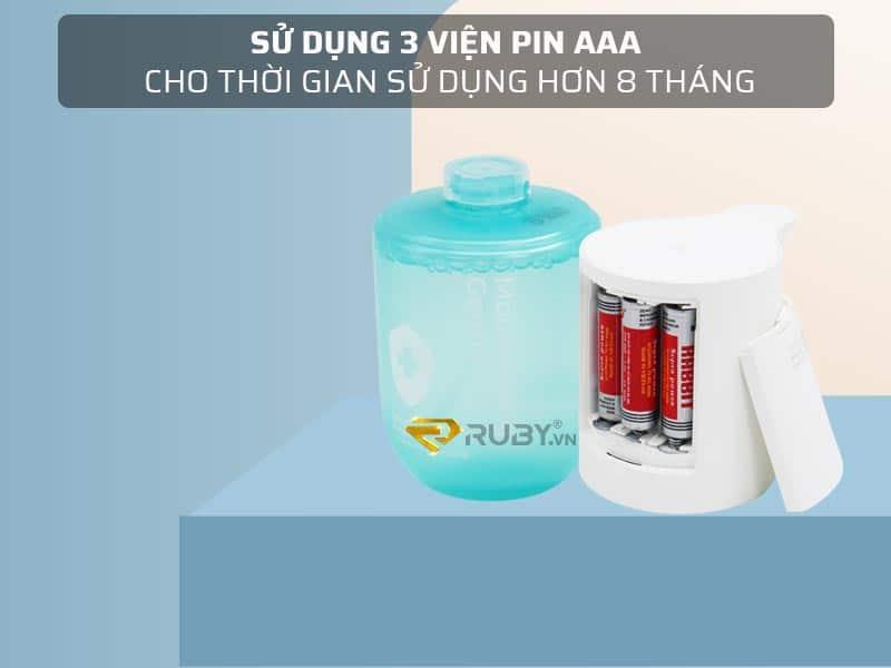 Sử dụng 3 viên pin AAA cho thời gian sử dụng hơn 8 tháng