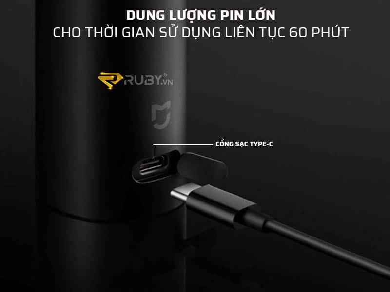 Máy cạo râu Xiaomi có dung lượng pin lớn, sử dụng 60 phút