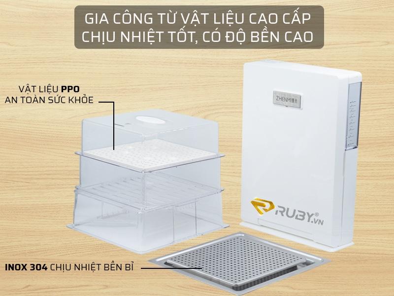 máy hấp 3 tầng gia công từ vật liệu cao cấp, an toàn với sức khỏe