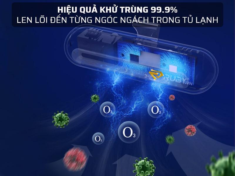 Hiệu quả khử trùng bao quát 99.9%