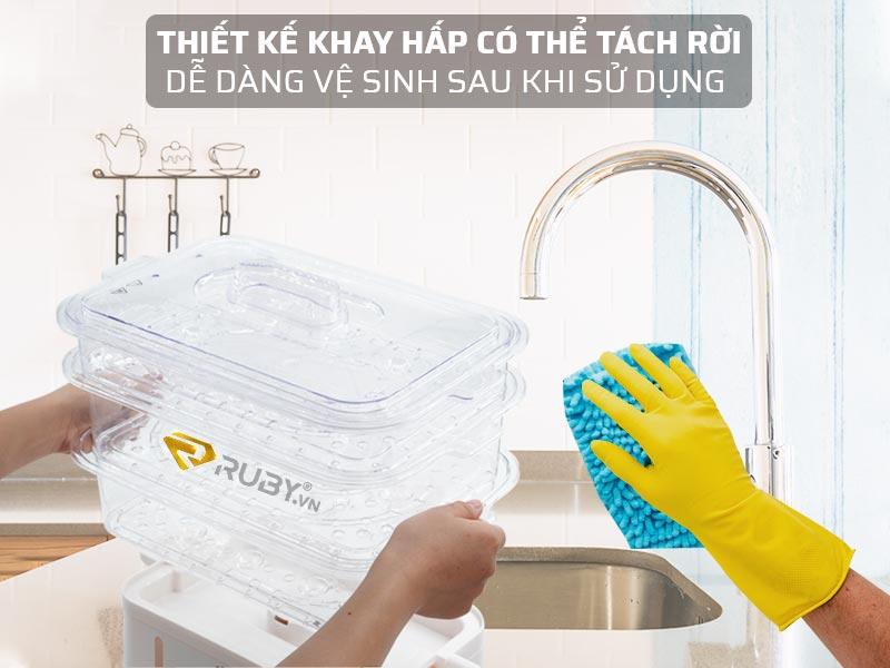 Dễ dàng vệ sinh sau khi sử dụng
