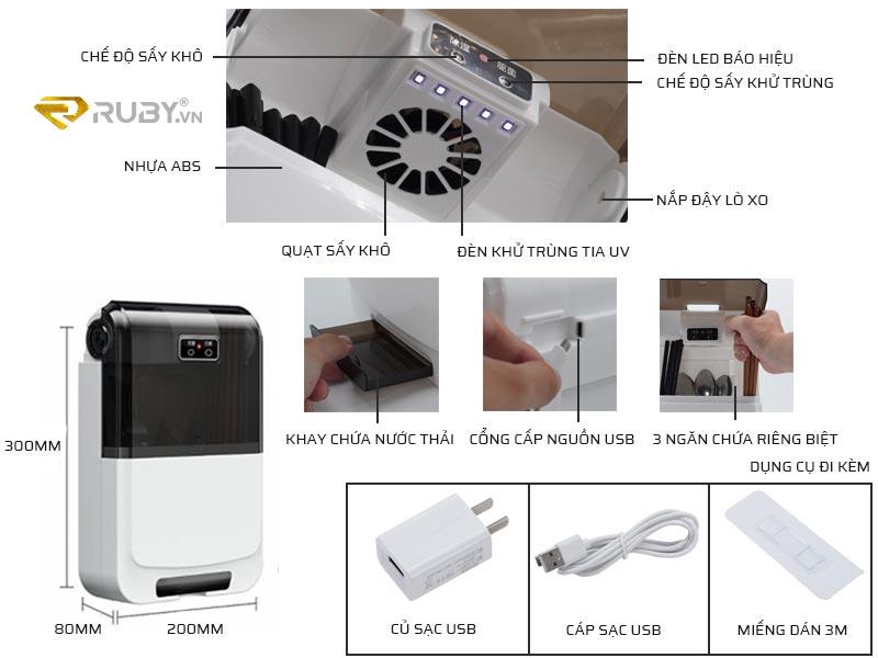 Cấu tạo ống đũa khử trùng UV Xixa