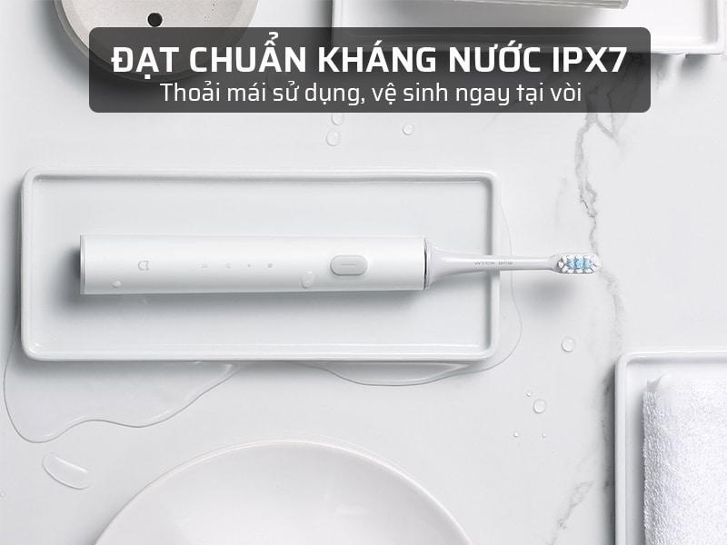 bàn chải đánh răng điện xiaomi đạt chuẩn kháng nước IPX7