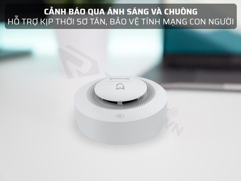 Bộ cảm biến báo cháy Xiaomi Mijia Honeywell cảnh báo thông qua ánh sáng và chuông