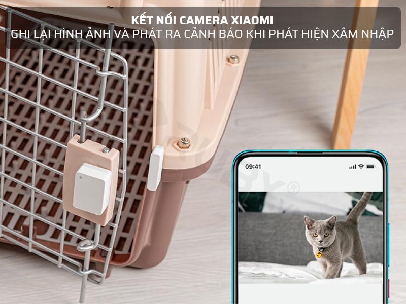 cảm biến cửa ra vào kết nối camera xiaomi