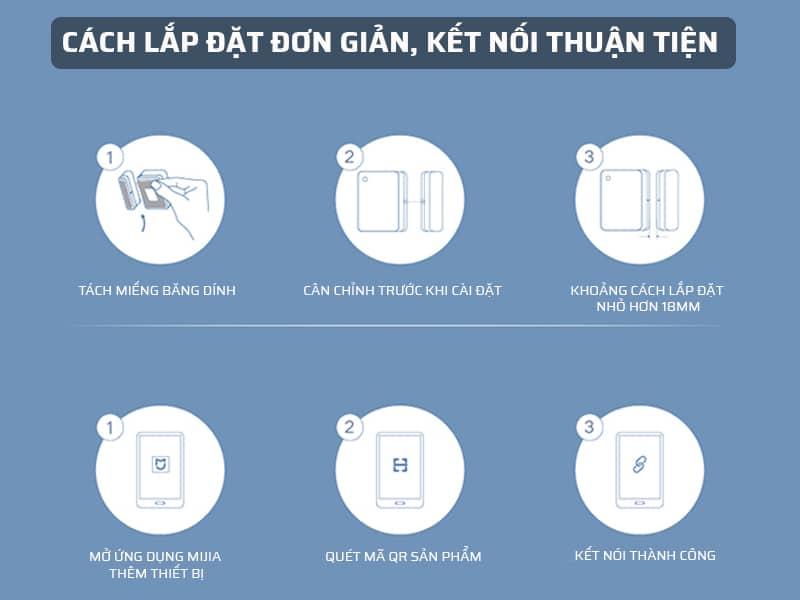 Cách lắp đặt cảm biến aqara khá đơn giản
