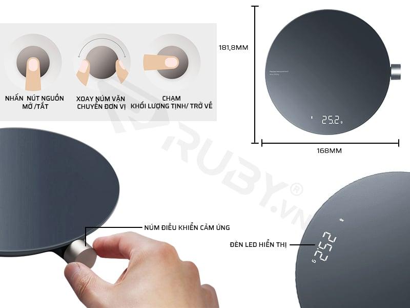 Cấu tạo chi tiết cân điện tử mini Xiaomi Hoto