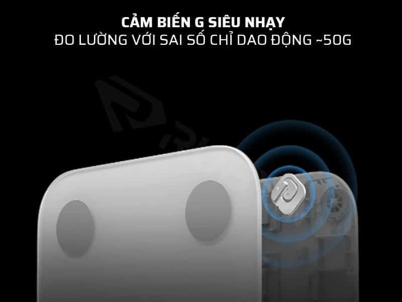 Cân điện tử sức khỏe Xiaomi Gen 2 có cảm biến G siêu nhạy