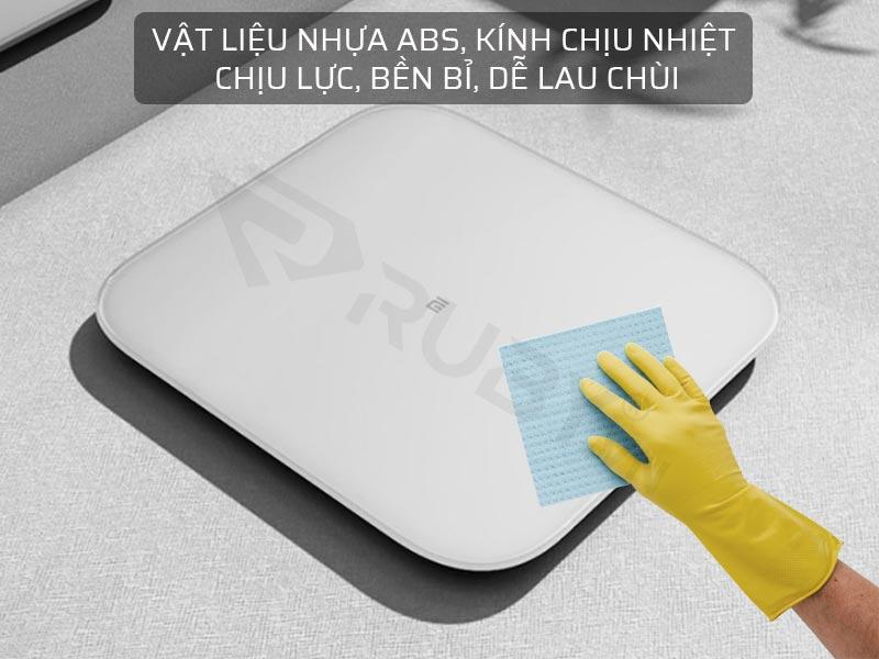 Vật liệu nhựa ABS, kính chịu nhiệt, chịu lực, bền, dễ vệ sinh