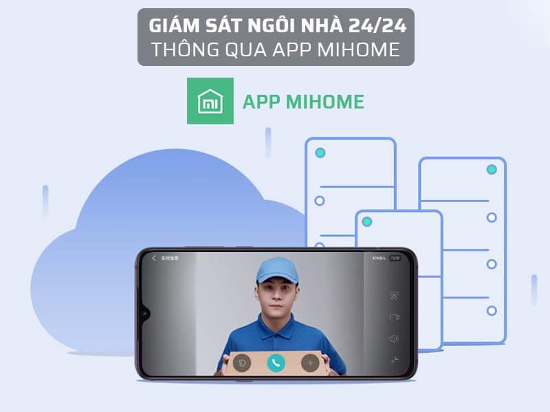 Chuông cửa có hình kết nối wifi giám sát thông qua app Mihome