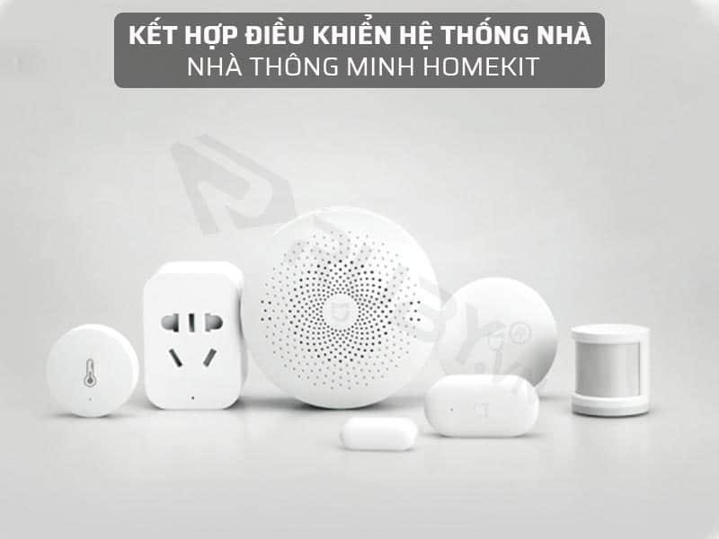 Công tắc cảm ứng chạm kết hợp điều khiển với hệ thống nhà thông minh Homekit
