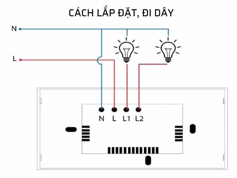 Cách lắp đặt công tắc wifi thông minh