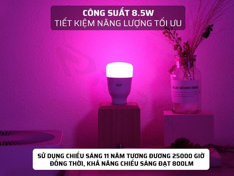 Công suất 8.5W của đèn LED thông minh