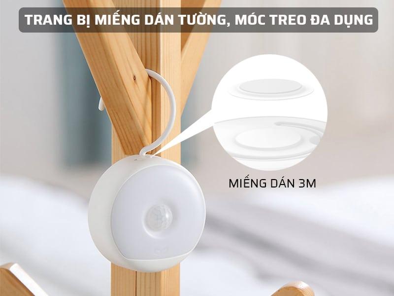 đèn ngủ cảm biến xiaomi được trang bị miếng dán tường