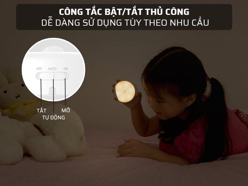 Bóng đèn LED cảm ứng có công tắc bật/tắt thủ công